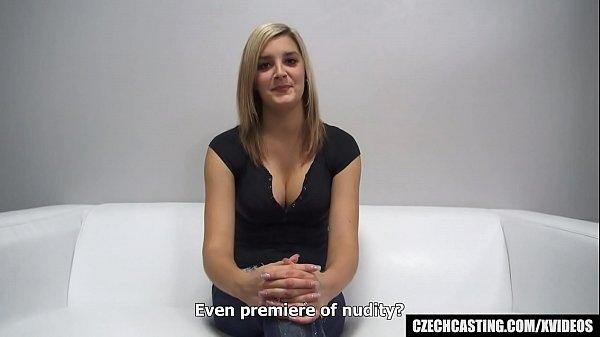 Busty Czech Cheerleader at First Interview